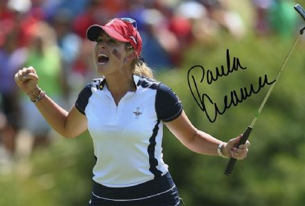 Paula Creamer, Solheim Cup, signed 12x8 inch photo.